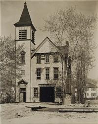 firehouse no.52, riverdale avenue, 245th street, bronx by berenice abbott