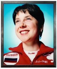 russia (irina slutskaya, olympic champion ice skater) by andres serrano