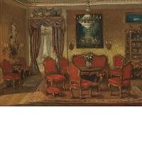 salon interior by walter gay
