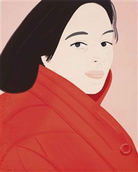 brisk day (woodcut) by alex katz