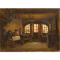 gentleman in an interior by charles edouard frère