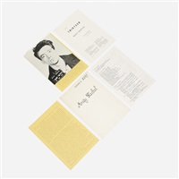 the thirteen most wanted men (dossier no 2357) by andy warhol