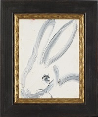 untitled (bunny) by hunt slonem