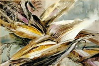 corn still life by virginia fouche bolton