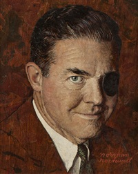 portrait of mr. matthew j. culligan, chairman and president of the curtis publishing company by norman rockwell