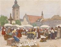 marktplatz by johann nepomuk geller