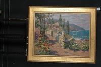 mediterranean coastal scene by anatoly yanev