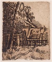 paysage à auvers, entrée de ferme by paul cézanne