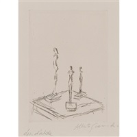 tree figurines (lust 105) by alberto giacometti