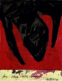 kopfstudie (+ flug - stein - rote erde ii; 2 works) by kaeseberg (tomas fröbel)