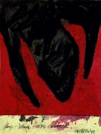 kopfstudie flug stein rote erde ii 2 works by kaeseberg tomas fröbel