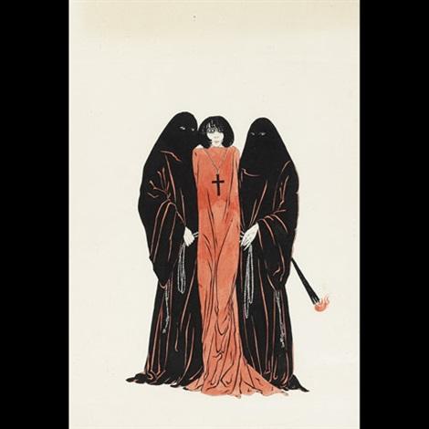 illustrations for a work by joris karl huysman les visions du mer captive maiden 2 works by alastair hans henning baron vogt