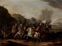 escena de batalla by simon johannes van douw