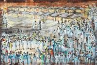 marknadsscen från djama elfna, marrakech, marocko by brion gysin