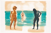 three prints from four aquatints by eric fischl