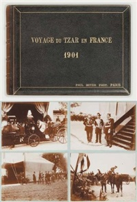 voyage du tzar en france (album w/ 100 works; quarto) by paul le boyer
