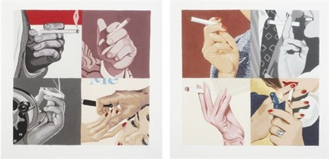 mens hands smoking womens hands smoking 2 works by julia jacquette