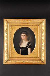 portrait stéphanie de beauharnais, princesse de bade by conrad geiger