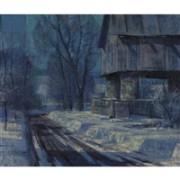 roadside barn, bucks county, pennsylvania by john foster