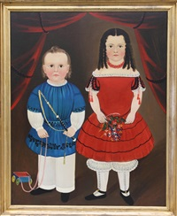 folk art portrait by william matthew prior