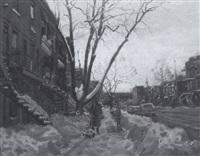 une rue de montréal by littorio del signore