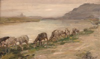le pecorelle in riva al tevere by beppe ciardi