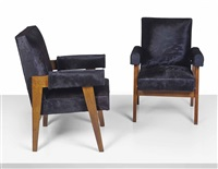 advocate armchairs (pair) by pierre jeanneret