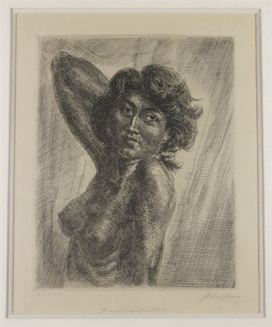 brunette head and shoulders by john french sloan