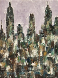 new york city skyline by chester dixon snowden