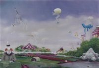 surrealistic landscape by hans kanters