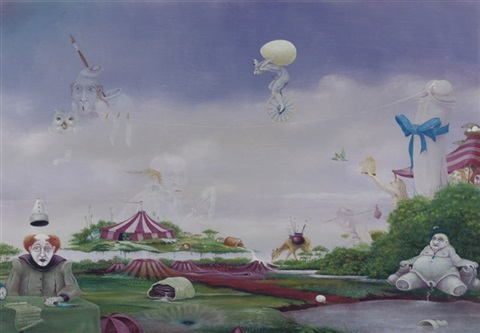surrealistic landscape by hans kanters
