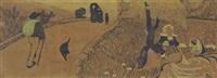 chemin au bord du lavoir ou bretons au bord de la route by paul sérusier