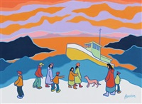 stranded boat by ted harrison
