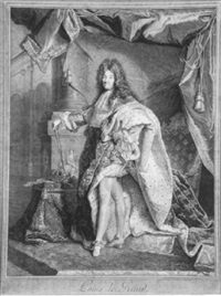 louis xiv. de france: louis le grand by pierre drevet