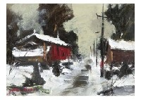 snow landscape by yotsuo kasai