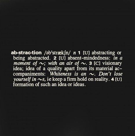 art as idea as idea abstraction by joseph kosuth