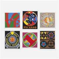 six works from the american dream portfolio (6 works) by robert indiana