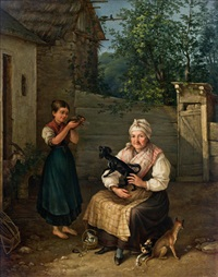besuch bei der großmutter by josef ginovsky