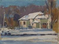paesaggio di neve by giorgio morandi