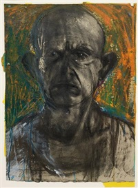looking in the dark #8 by jim dine