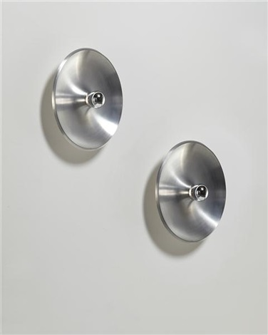 wall or ceiling lights pair by gino sarfatti