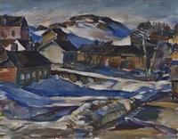 winter landscape by ilmari aalto
