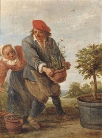 the gardener: 'spring' by david teniers the younger
