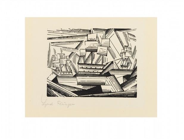 kreuzende segelschiffe 2 by lyonel feininger