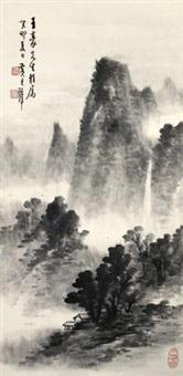 山岚飞瀑 by huang junbi