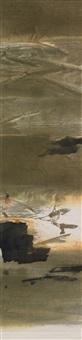 ohne titel (abstrakte landschaften) (pair) by bo yun