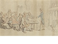 a difference of opinion by thomas rowlandson