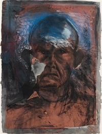 looking in the dark #10 by jim dine