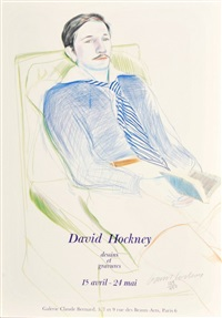 exhibition poster dessins et gravures for galerie claude bernard by david hockney