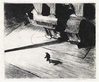 night shadows (from corner saloon) by edward hopper